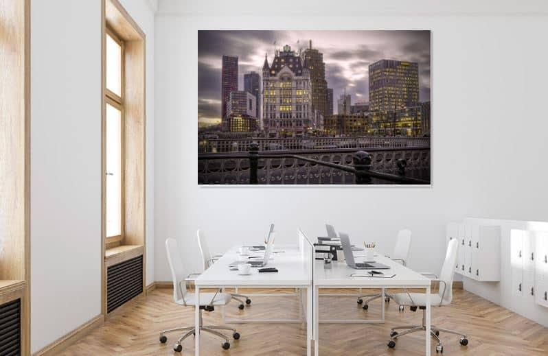 Stadsgezicht Rotterdam - werk aan de muur - MvH Fotografie - Fotograaf in Hellevoetsluis