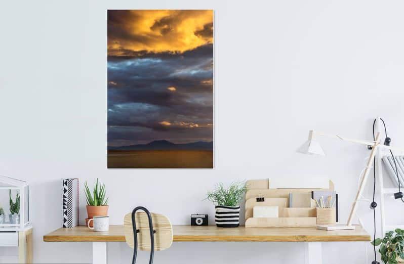 Stormachtige luchten in Griekenland - werk aan de muur - MvH Fotografie - Fotograaf in Hellevoetsluis