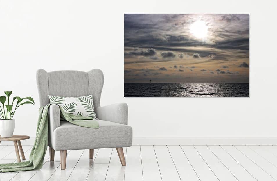 zonsondergang noordzee werk aan de muur - MvH Fotografie - Fotograaf in Hellevoetsluis